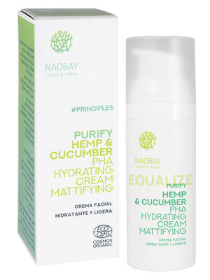 Naobay Equalize - Hemp & Cucumber PHA Hydrating Cream Mattifying