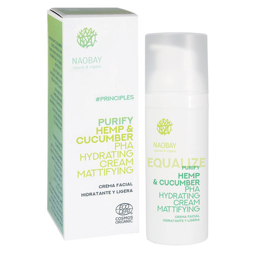 Naobay Purify - Hemp & Cucumber PHA Hydrating Cream Mattifying