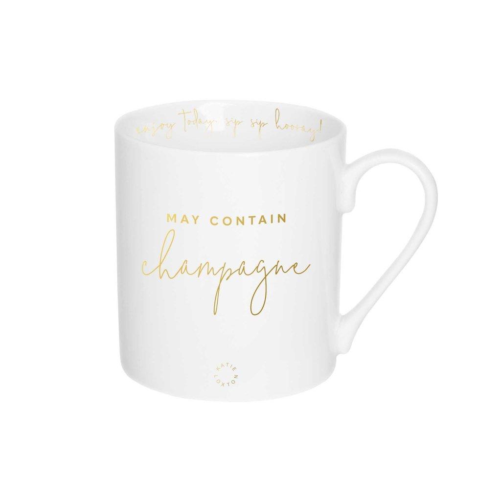 Katie Loxton Gift Boxed Mug - May contain Champagne