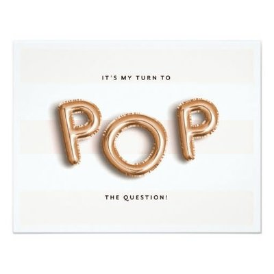 Pop the question- card
