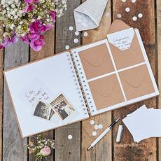 Ginger Ray Gastenboek met envelopjes