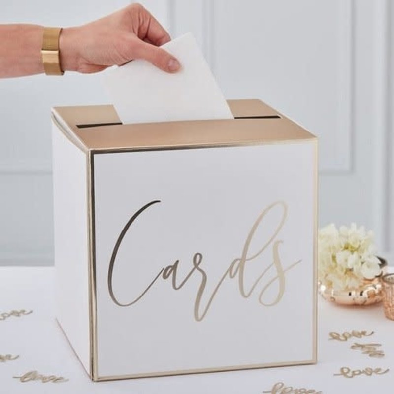 Ginger Ray Gold Wedding - Enveloppendoos