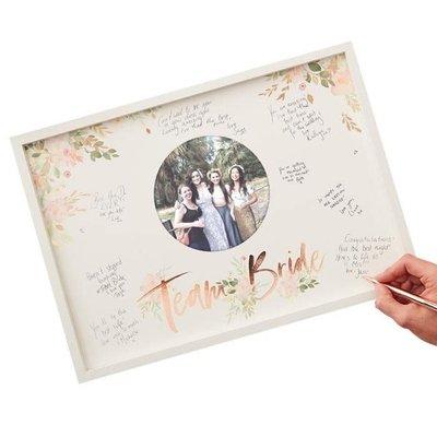 Ginger Ray Floral Hen Party - Team Bride fotolijst