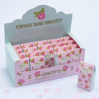 Vintage Rose - Confettidoosje