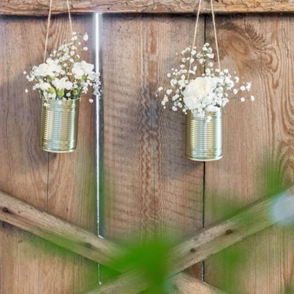 Weddingdeco.nl Blikjes goud (5stuks)