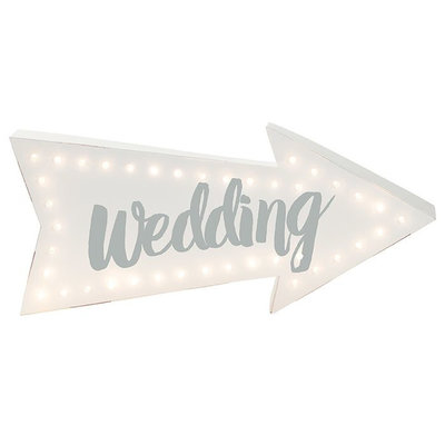 Talking Tables Wedding lightup pijl