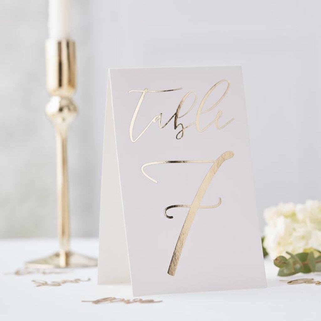 Ginger Ray Gold Wedding - Tafelnummers (1-12)