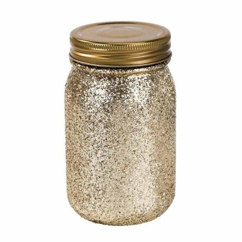 Talking Tables Mason Jar (Glittergoud)