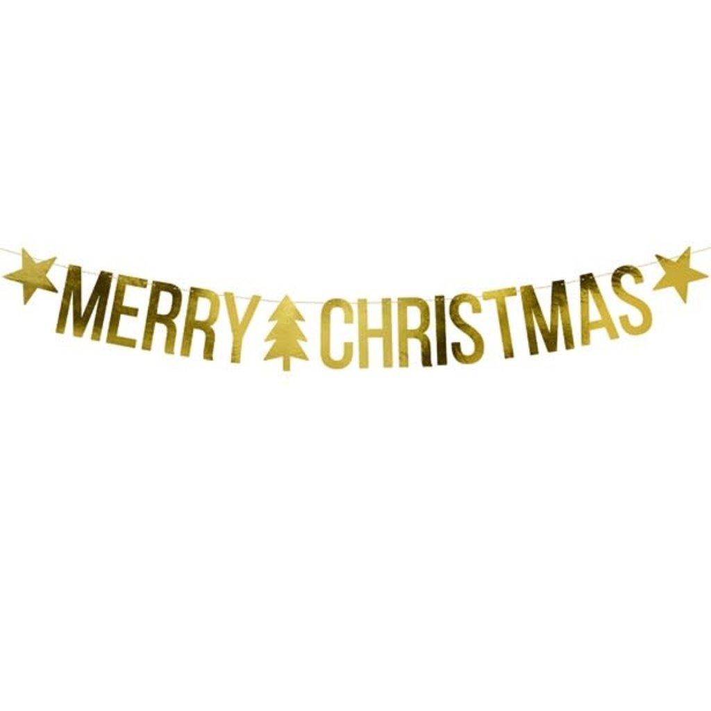 Gouden slinger- Merry Christmas