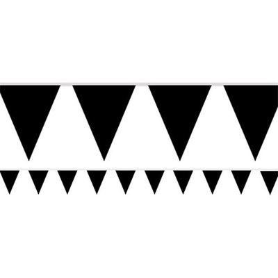 Zwarte vlaggenslinger