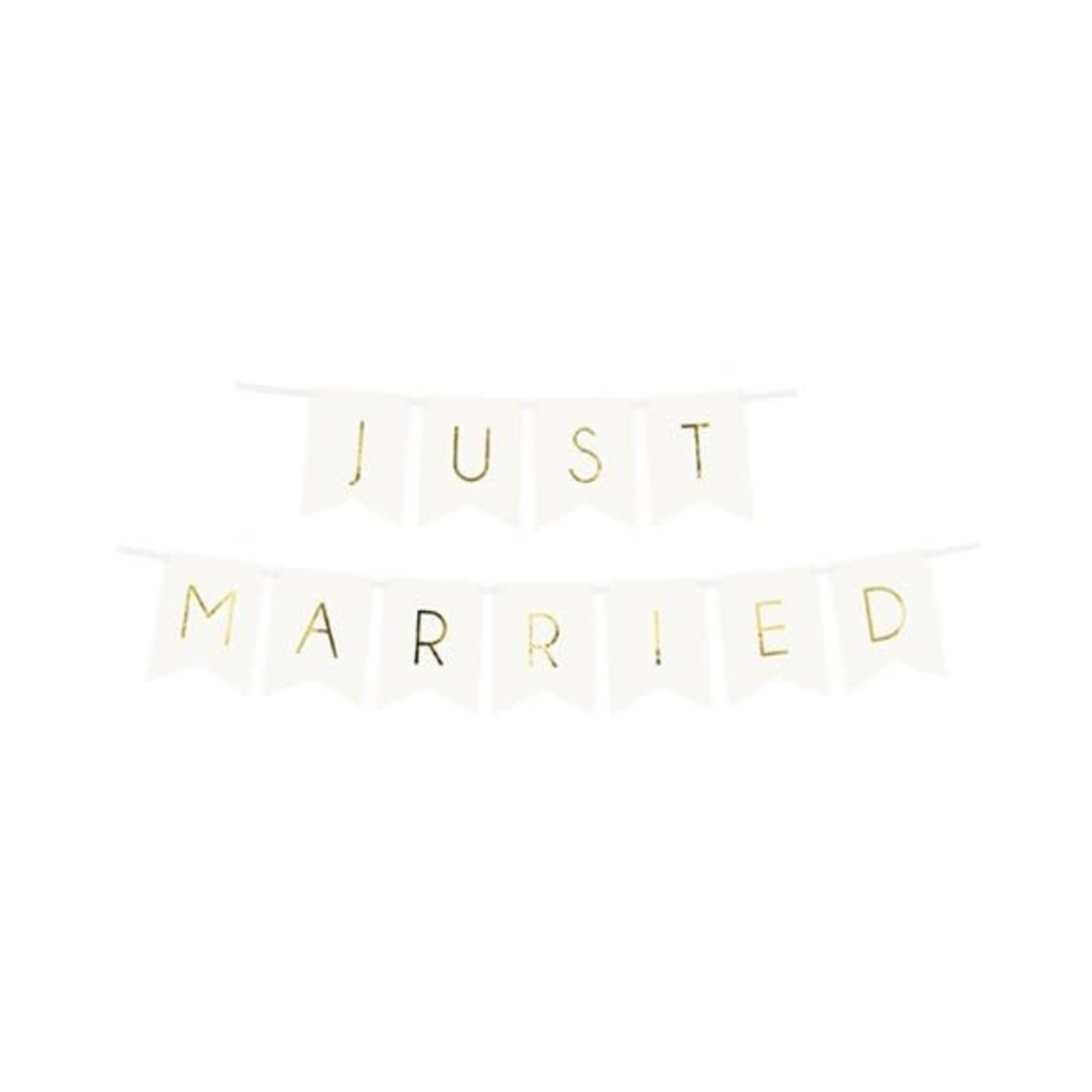 Witte 'Just Married' - Slinger