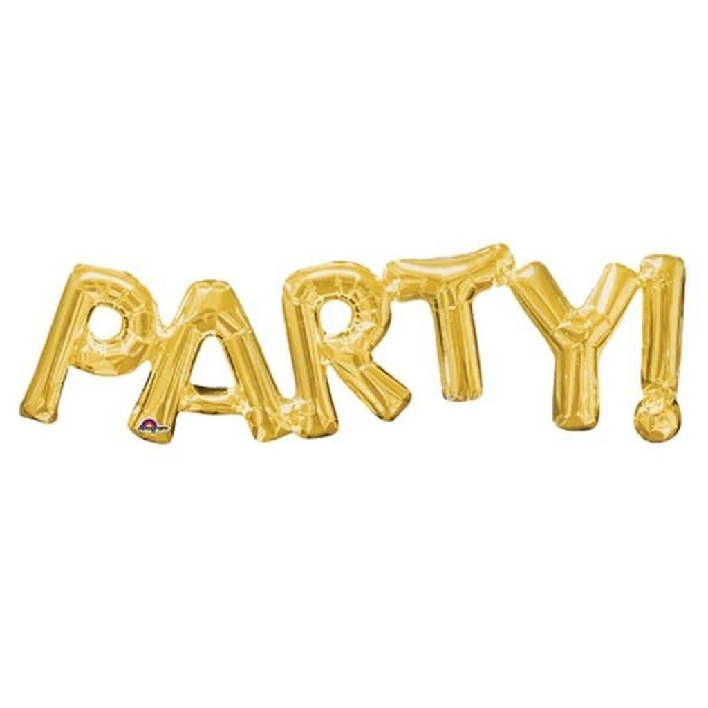 PARTY! - Gouden folieballon