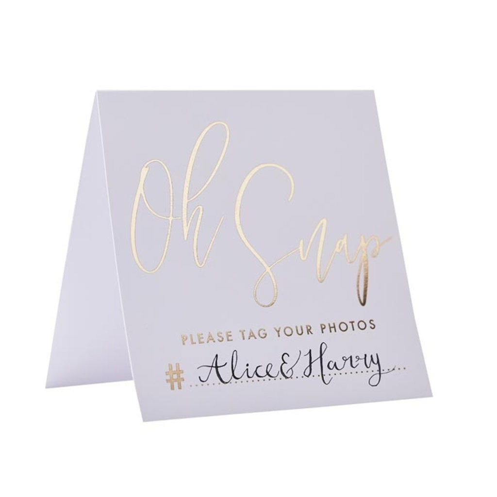 Ginger Ray Gold Wedding - Instagram kaarten (5st.)