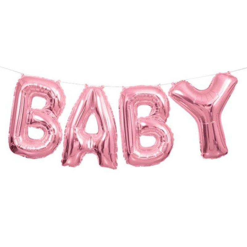 BABY folieballon (roze)