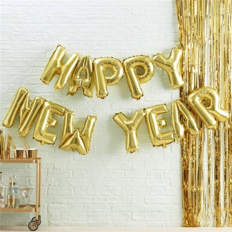 Ginger Ray HAPPY NEW YEAR folieballon