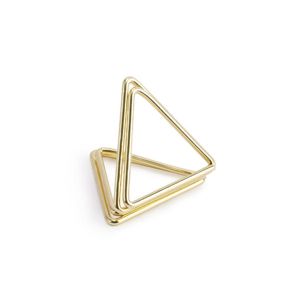 Naamkaarthouders Triangle goud