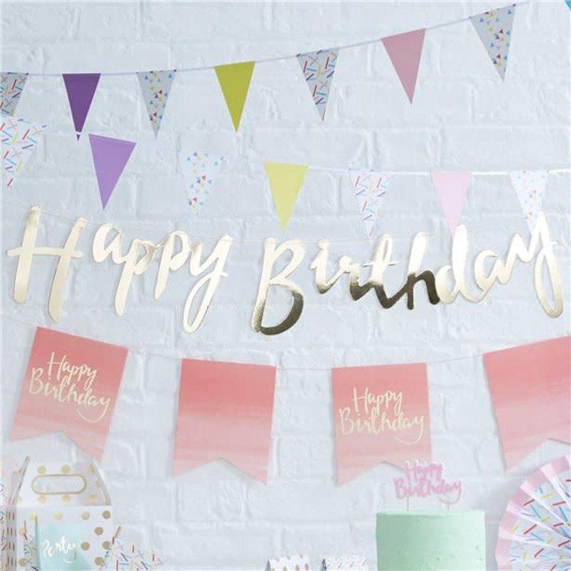 Ginger Ray Pick & Mix - Happy Birthday gouden slinger (1.5m)