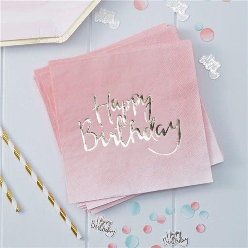 Ginger Ray Pick & Mix - Happy Birthday servetten (20st.)