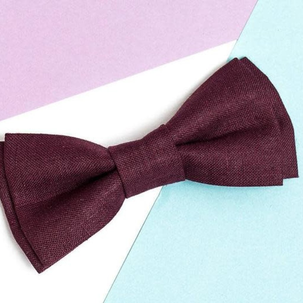 Father & Son Bow-Tie // Burgundy