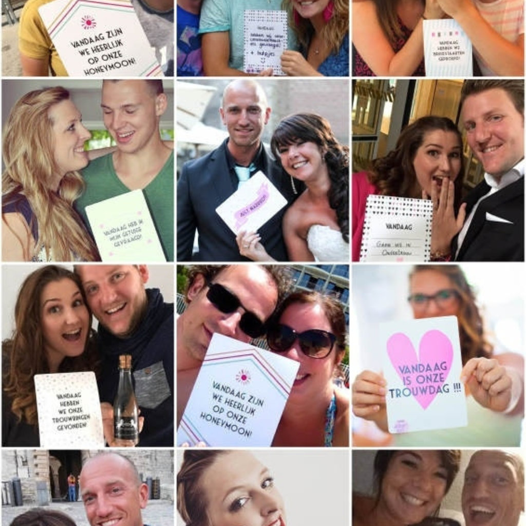 Bonjour to you! Almost Married! Pre wedding selfie cards