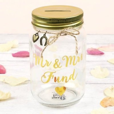 sass and belle Mr & Mrs fund jar
