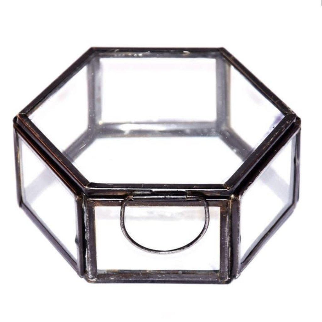 Ringdoosje Hexagon (zwart)