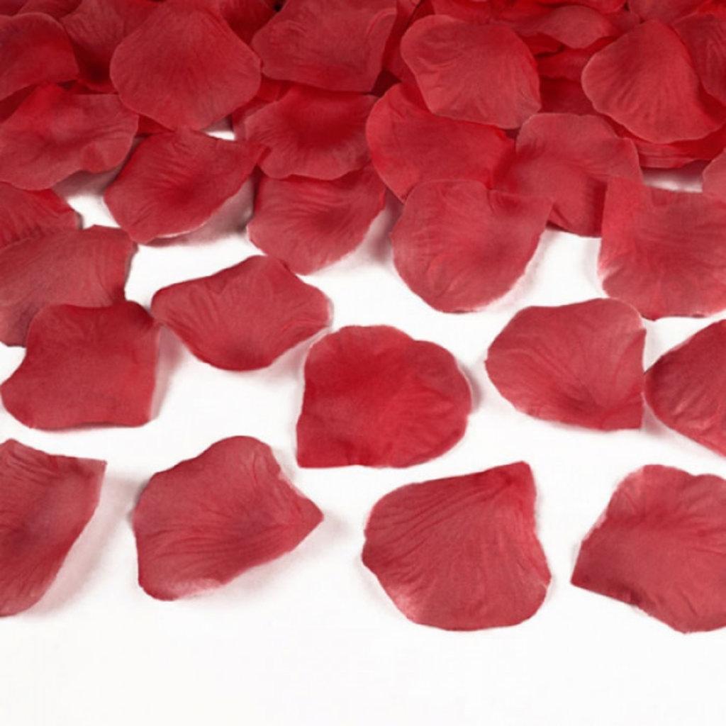 Zijden rozenblaadjes (100stuks)