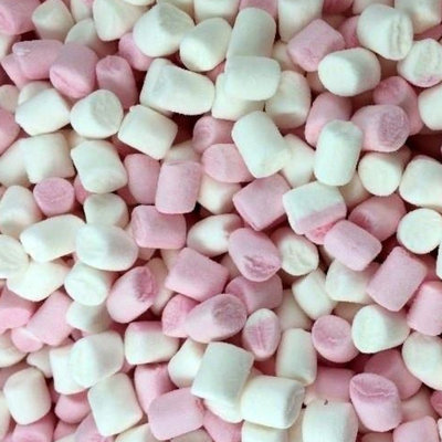 Mini-marshmallows roze-wit (1kg)