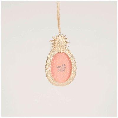 sass and belle Sass & Belle - Gold Pineapple Mini Frame