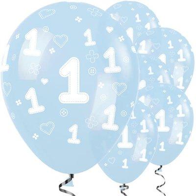 Sempertex 1ste verjaardag ballon blauw - 30 cm (25st)