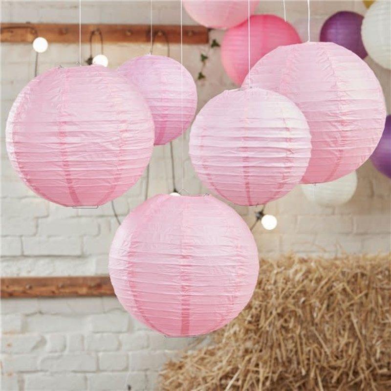 Boho Wedding roze lantaarns - 30 cm & 20.5cm