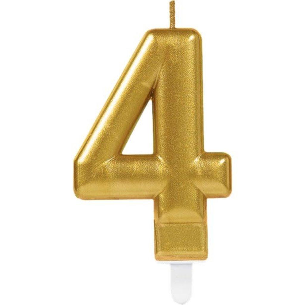 4de verjaardagskaars (goud)