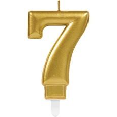 7de verjaardagskaars (goud)