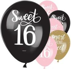Gold & Pink Sweet 16 Ballonnen (15 st.)