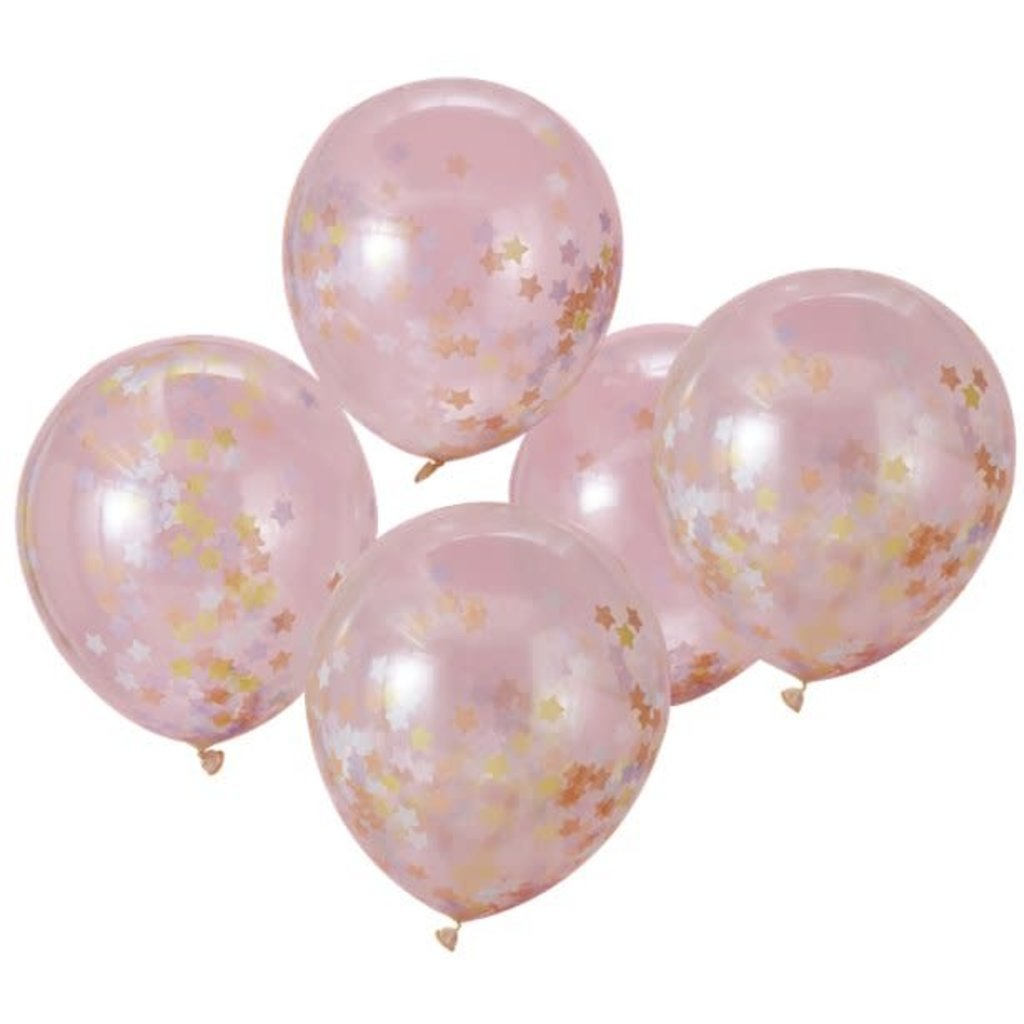 Ginger Ray Unicorn wishes star confetti ballon  (5 st.)