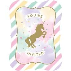Unicorn Sparkle - Uitnodigingen (8 st.)