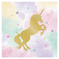 Unicorn Sparkle - Servetten 33cm (16 st.)