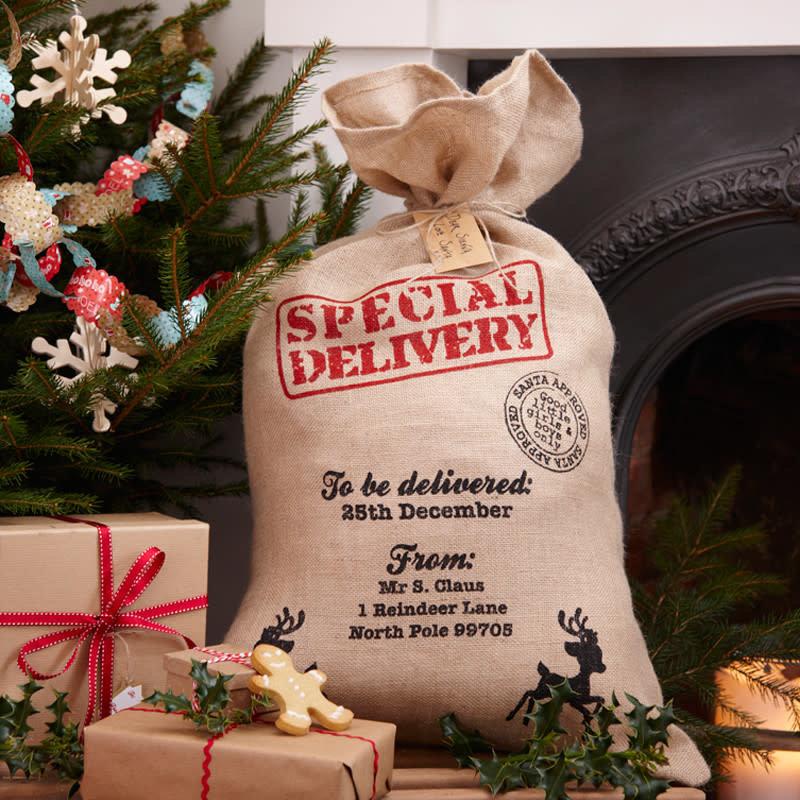 Ginger Ray Hessian Santa sack