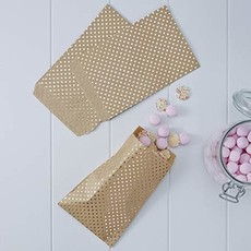 Ginger Ray treat bags : gold