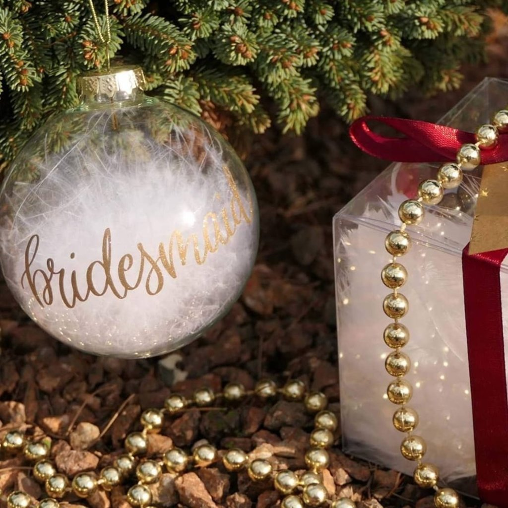 The Wedding & Party Shop Kerstbal - Bridesmaid (goud)