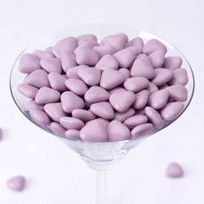 Mini-Chocoladehartjes (Lila) - 1kg