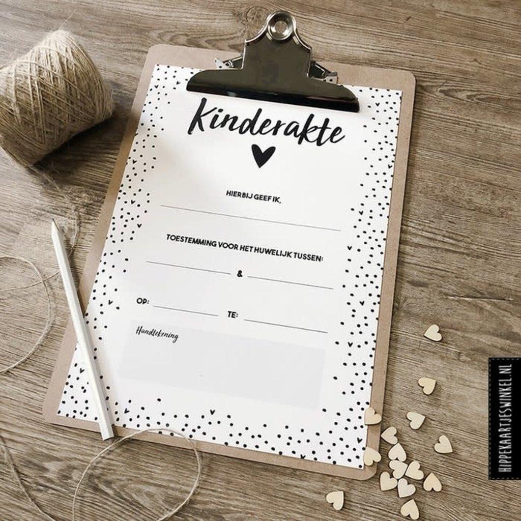 Hippekaartjes.nl Kinderakte bruiloft
