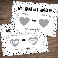 Hippekaartjes.nl Kraskaart geslacht 'jongen'