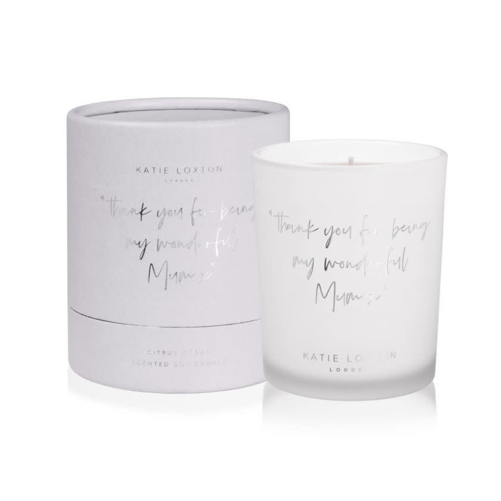 Katie Loxton Words to live by candle - Thank you for being my wonderful mum x