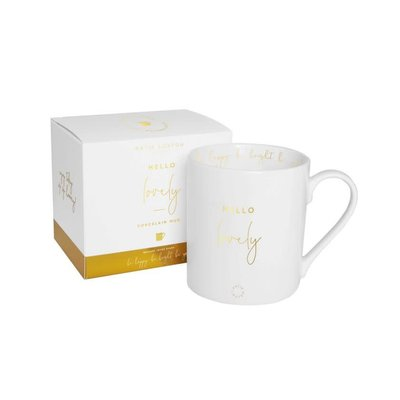Katie Loxton Gift Boxed Mug - Hello Lovely