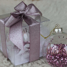 Bridesmaid kerstbal (roze)