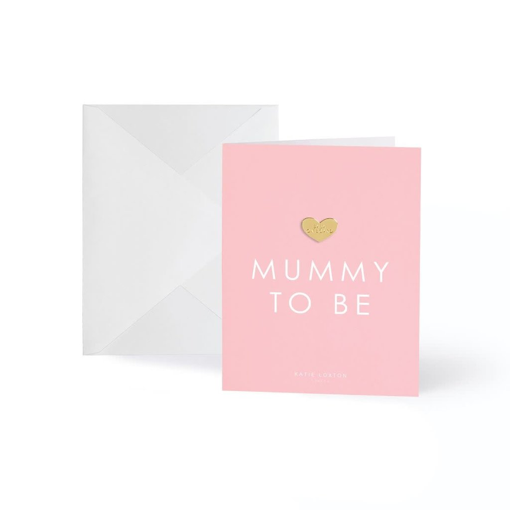 Katie Loxton Wenskaart (gouden pin) - Mummy to be