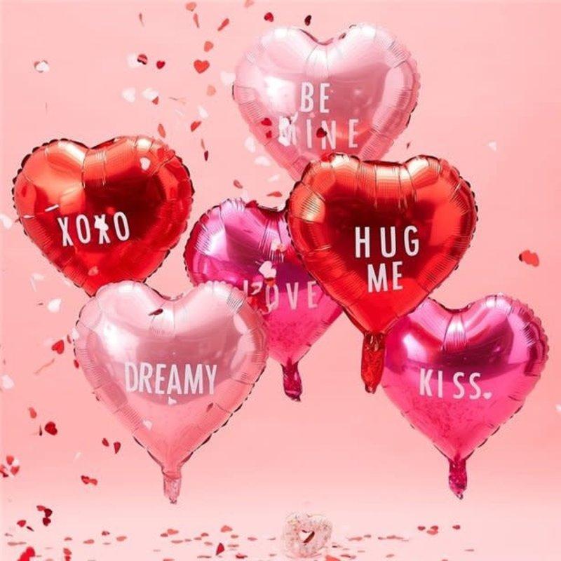 Ginger Ray Be my Valentine - folieballonnen (6st.)