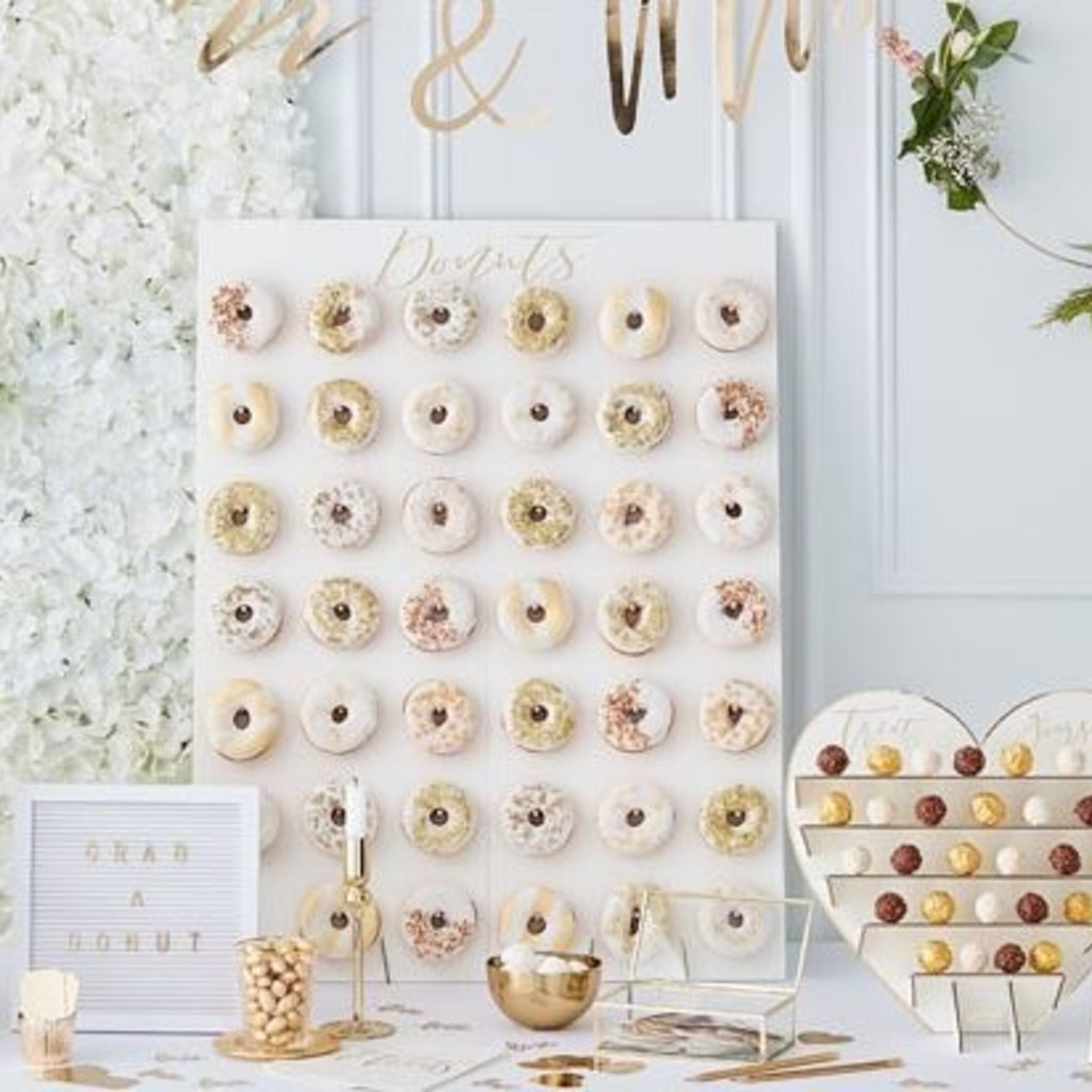 Ginger Ray Gold Wedding - Letterbord