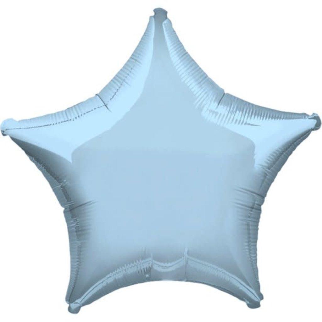 Folieballon - Ster (blauw) 45cm